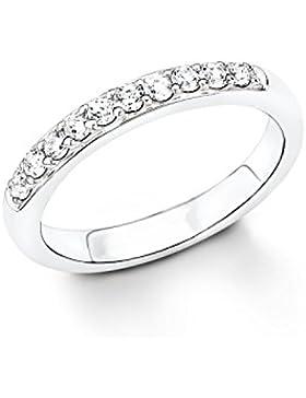 s.Oliver Damen-Ring 925 Silber rhodiniert Zirkonia weiß - 523