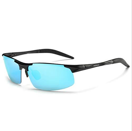 Sport Polarisierte Sonnenbrillen für Männer, Frauen Fahren Angeln Laufen Reiten Radfahren Wayfarer UV-Schutz Sonnenbrille mit Brille Tuch,Blue/Black