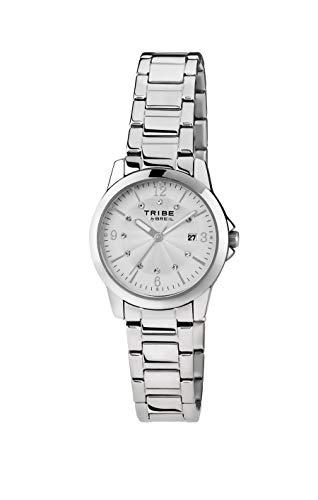 Orologio breil donna classic elegance quadrante mono-colore bianco movimento solo tempo - 3h quarzo e bracciale acciaio ew0195