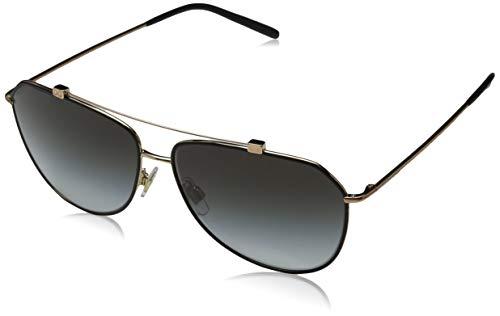 Dolce & Gabbana Damen 0DG2190 12968G 59 Sonnenbrille, Schwarz (Matte Black/Pink Gold/Lightgreygradientblack),