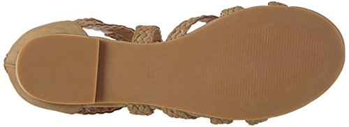 La Strada Taupe Suede Leather Look Sandal, Sandales ouvertes femme Brun (2216 - micro taupe)