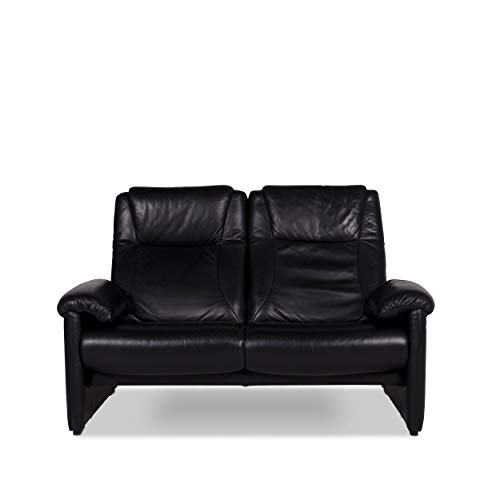 Willi Schillig Designer Leder Sofa Schwarz Zweisitzer Couch #9691 - Leder-sofas Und Zweisitzer