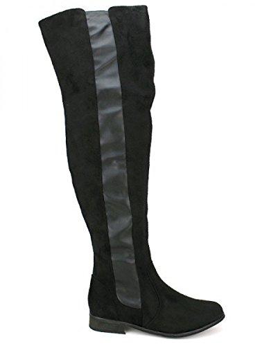 Cendriyon, Cuissarde noire LEXY MODA Chaussures Femme Noir