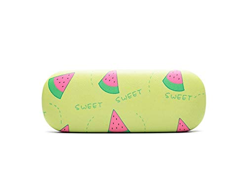 FOOBRTOPOO Cute Fruit Glass Case Hard Sonnenbrille Fall für Kinder (Wassermelone)