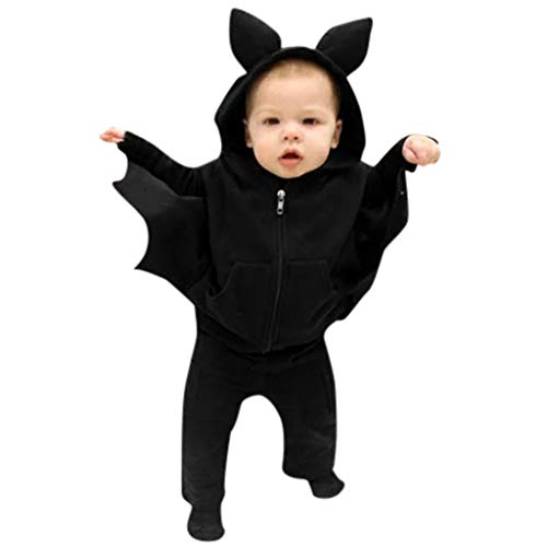Schnee Kostüm Panda - Riou Fledermaus kostüm Kinder Halloween Kostüm Neugeborenes Baby Jungen Mädchen Karneval Fasching Party Cospaly Costume Babykostüme Bat Cartoon Kapuzenjacke Mantel Babykleidung Outfits Set (80, D)