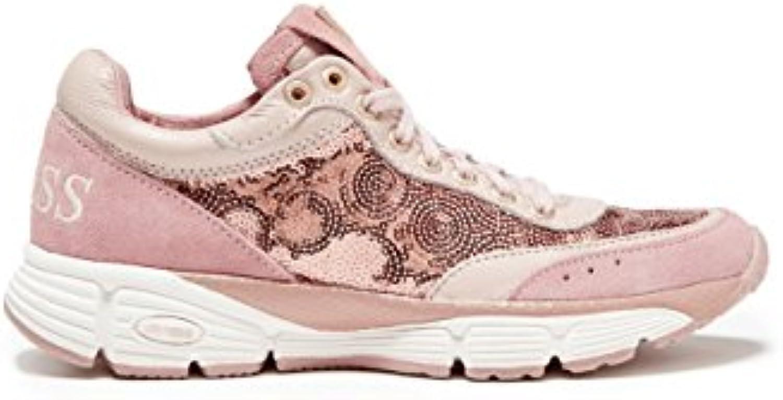 Guess Damen Sneaker Schnürschuhe Rosa #535 2018 Letztes Modell  Mode Schuhe Billig Online-Verkauf