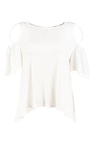 blanc Femmes Faye T-shirt À Bretelles Et Épaules Dénudées Blanc