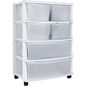 plastic storage drawers on wheels 6 drawer plastic wide storage chest white mounted on 24799
