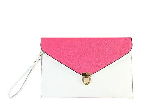 rimen-womens-faux-saffiano-leather-clip-closure-wrist-clutch-handbags-sz-3204-fuchsia