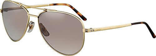 occhiali-da-sole-cartier-santos-horizon-61-16-gold