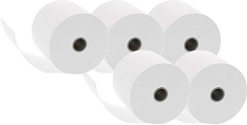 Preisvergleich Produktbild 10x 5 Additionsrollen (Ersatz-Papierrollen, geeignet für Kassen und druckende Tischrechner, 40 lfm, 100% Holzfrei, 57 x 12 mm, 50 Rollen)