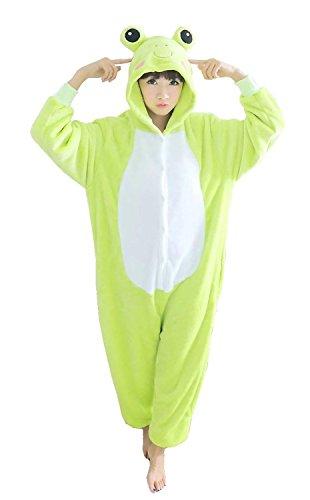 Nicetage Cosplay Onesie Jumpsuits Anime Kostuem Erwachsene Pyjama Overall Hausanzug Kigurum Frosch L