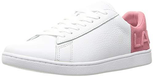 Lacoste Damen Carnaby Evo 419 2 SFA Sneaker, Weiß (White/Pink B53), 38 EU