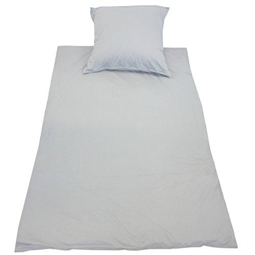 Bettwäsche Jersey (Jersey Bettwäsche 135x200 + 80x80 Baumwolle Bettgarnitur Jerseybettwäsche Unifarben 2-tlg. Set, Farbe: Graphit, Größe: 135 x 200 cm)