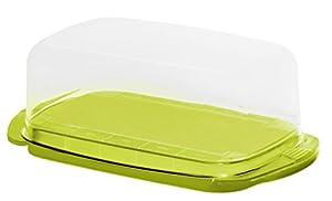 Rotho Fresh Butterdose, Kunststoff (BPA-frei), grün / transparent, (18 x9,5 x...
