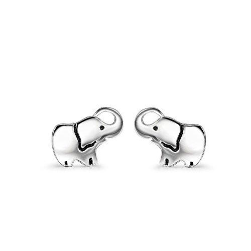 925 Silber Ohrstecker Elefant - Damen Kinder Ohrringe niedlich Elefanten Tier-ohrringe