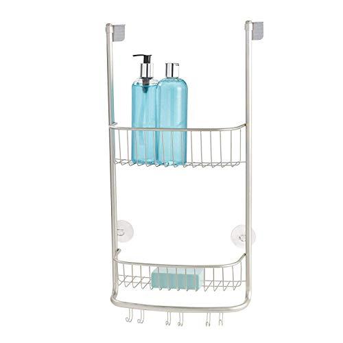 iDesign Organizador de ducha para colgar, pequeña estantería colgante de...