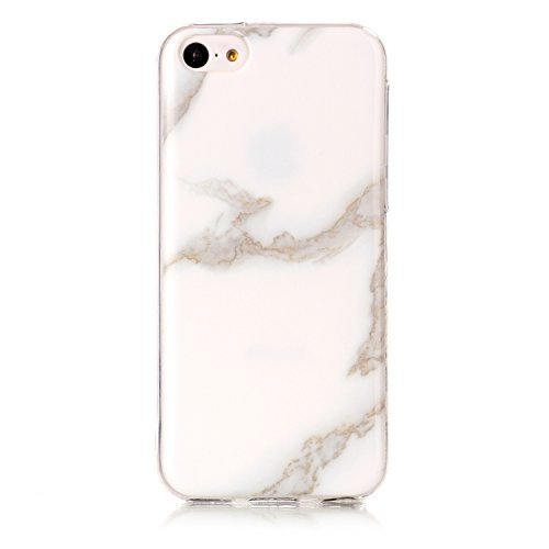 iPhone 5s Hülle Silikon, LuckyW TPU Marmor Handyhülle für Apple iPhone 5 5S SE Soft Silikon Tasche Transparent Schale Clear Klar Hanytasche Durchsichtig Rückschale Ultra Slim Thin Dünne Schutzhülle We Weiß