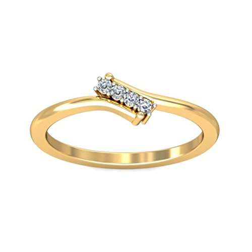 Belle Diamante 18K Gold and Diamond Ring  available at amazon for Rs.5345