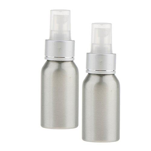 Sharplace Sprühflasche Aluminium Zerstäuber Sprayer Wasser Pumpflasche (2 Stück Packung) Silber - Silber - 4 Oz-probe-flaschen