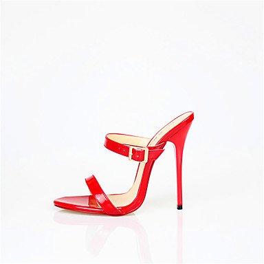 LvYuan Da donna-Sandali-Matrimonio Ufficio e lavoro Serata e festa-Altro-A stiletto-PU (Poliuretano)-Nero Rosso Bianco White