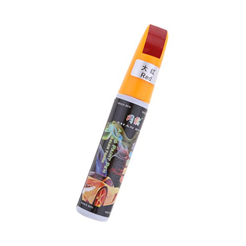 IPOTCH Kratzer-Entferner Universal Stift aus Kunststoff, Kapazität: 12ml Auto Kratzer Entfernen Stift - Rot