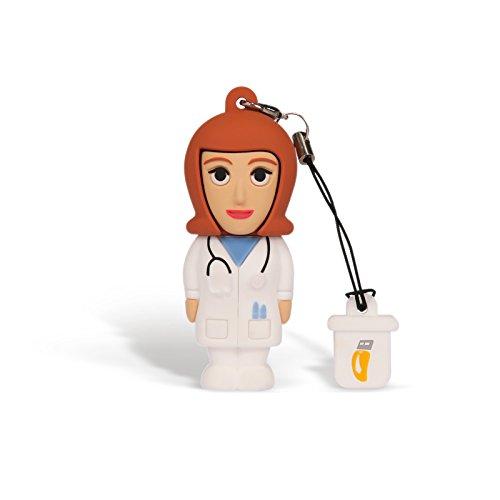 Professional usb medico donna, simpatiche chiavette usb flash drive 2.0 memory stick archiviazione dati, portachiavi, pendrive 8 gb
