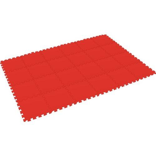 Preisvergleich Produktbild Bodenmatte Puzzlematte UNO (24 Teile), rot - 16 mm - 0+