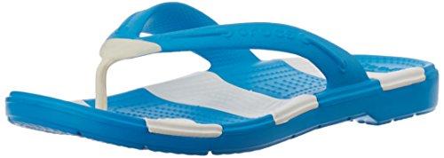 Crocs BeachLineFlip, Unisex-Erwachsene Zehentrenner Sandalen, Blau (Ocean/White 49Y), 37/38 EU