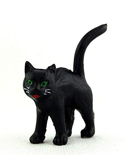 us Miniatur Tier Halloween Zubehör Schwarze Katze Stehend ()