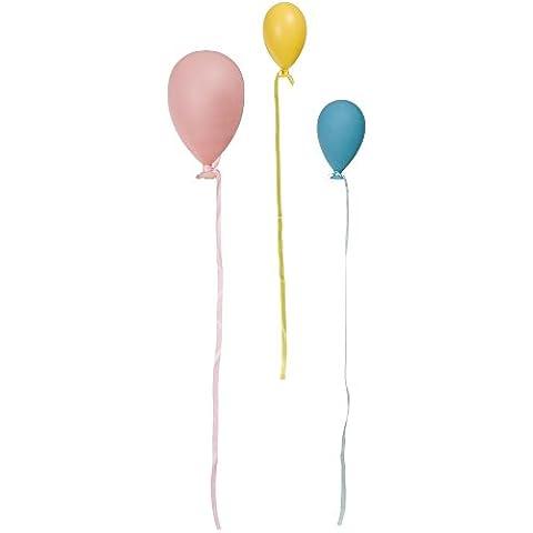 Colgantes decorativos globos de cristal 3 piezas colores pastel