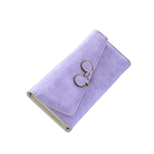 Scrubs Lang Frauen Brieftasche OdeJoy Dame Tasche Brieftaschen Leder Geldbörse Krokodil Leder Brieftasche Mobil Geldbörse Multifunktional Brieftasche LässigTäglich Rucksack (Lila, 1 PC) -