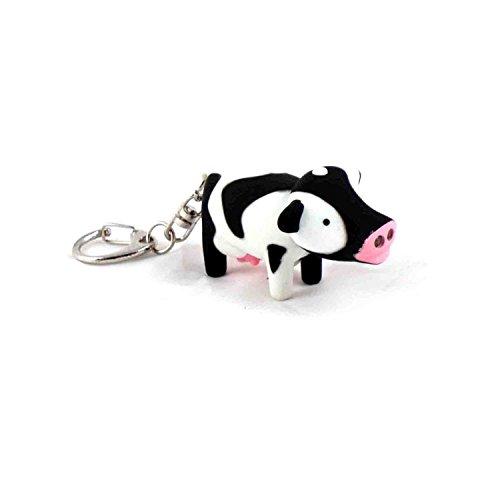 JustForMoo Cow LED Keyring Makes  Moo  Noise