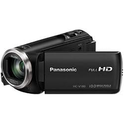 "Panasonic HC-V180EC-K - Videocámara DE 2.7"" (Zoom óptico de 50x, Gran Angular 28 mm, Sensor 18.1 MP, Control Creativo), Color Negro"