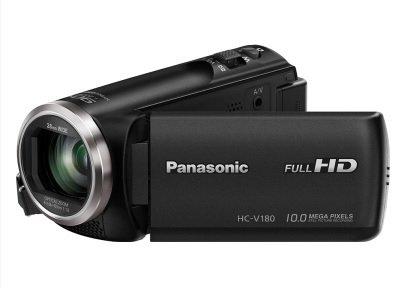 Panasonic HC-V180EC-K - Videocámara de 2.7' (zoom óptico de 50x , gran angular 28 mm, sensor 18.1 MP, control creativo), Color Negro