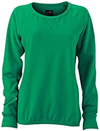 JAMES & NICHOLSON Classic sweat-shirt in french terry fabric (XL, simply-green)