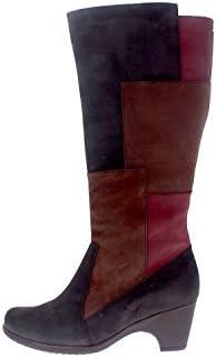PieSanto Calzado mujer confort de piel 5937 bota cómodo ancho