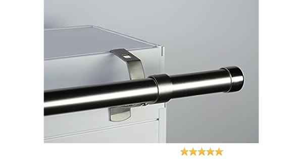 Coloris Sp/écial Coffre de volet Roulant /à rainure Geko 1 Support sans per/çage Design pour Tringle /à Rideaux diam/ètre 20 mm Nickel Mat