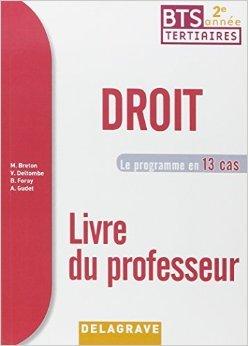 Droit 2e année BTS : Livre du professeur 2015 de Philippe Idelovici ( 2 juillet 2015 )