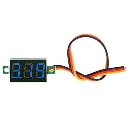 Besttse Digitales Voltmeter 0-100 V 3 Bits 3 Drähte LED Display Panel DC Spannungsmesser 0,91,4 cm (100 Pics Ca)