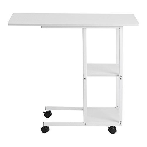 Zerone Laptop-Tisch, Home Office Portable Mobile über Bett Tisch Sofa Couch Rolling Wheel Laptop Computer Schreibtisch -