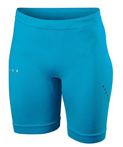 FALKE Damen Laufbekleidung Running Short Tights Pacific Blue, S