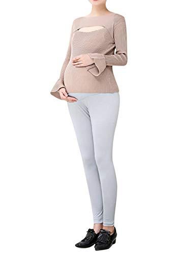 Zhhlaixing Enceinte Femmes Leggings Maternité Vêtements de Nuit Doux Soutien Pantalon - Grande Taille Grossesse Yoga Pantalons