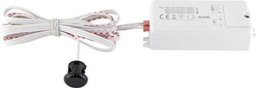 Mini Einbau IR Sensor Bewegungsmelder 230V 500W - LED geeignet - Mindestlast nur 1W bis max. 500W - ideal für ein Einbau in Möbel, Badschrank etc. (Näherungsschalter)