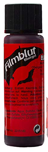 EULENSPIEGEL Profi-Schminkfarben GmbH 405635 Filmblut/Blutgel 20 ml für Halloween, dunkel, VEGAN, rot