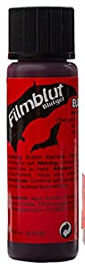 Eulenspiegel Profi-Schminkfarben GmbH Búho Espejo 405635película Sangre/Sangre Gel 20ml para Halloween, Oscuro, Vegano, Color Rojo