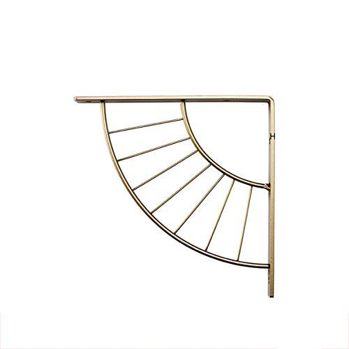 ZWJJOK Metallhalterung Wandmontierter Wandrahmen Einfache dreieckige Trennplatte Halterung Lagergewicht Stativgestell (Color : Gold, Size : M)