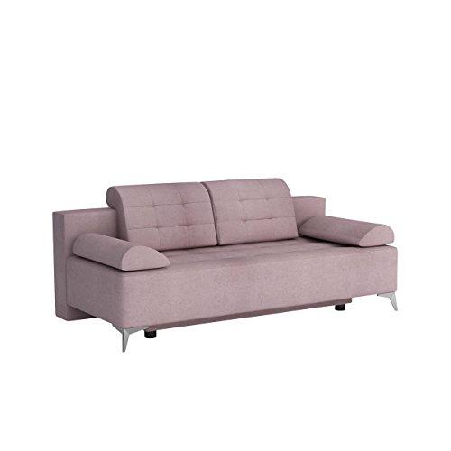 Mirjan24  Sofa mit Bettkasten und Schlaffunktion Modo, Couch, Schlafsofa, Bettsofa, Funktionsofa, Farbauswahl, Modern Polstersofa, Wohnzimmer (Rico 19)