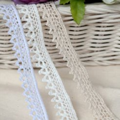 3YDS pizzo sangallo cotone pizzo crochet Trim 1.5cm YH002 Infradito colorati estivi, con finte perline