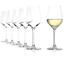 Bicchieri per vino bianco Stölzle Lausitz Revolution, 365ml, servizio da 6, calice ottimizzato per il vino bianco, bicchieri per vino bianco universali